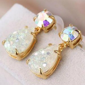 Kate Spade Iridescent Glitter Crystal Earrings